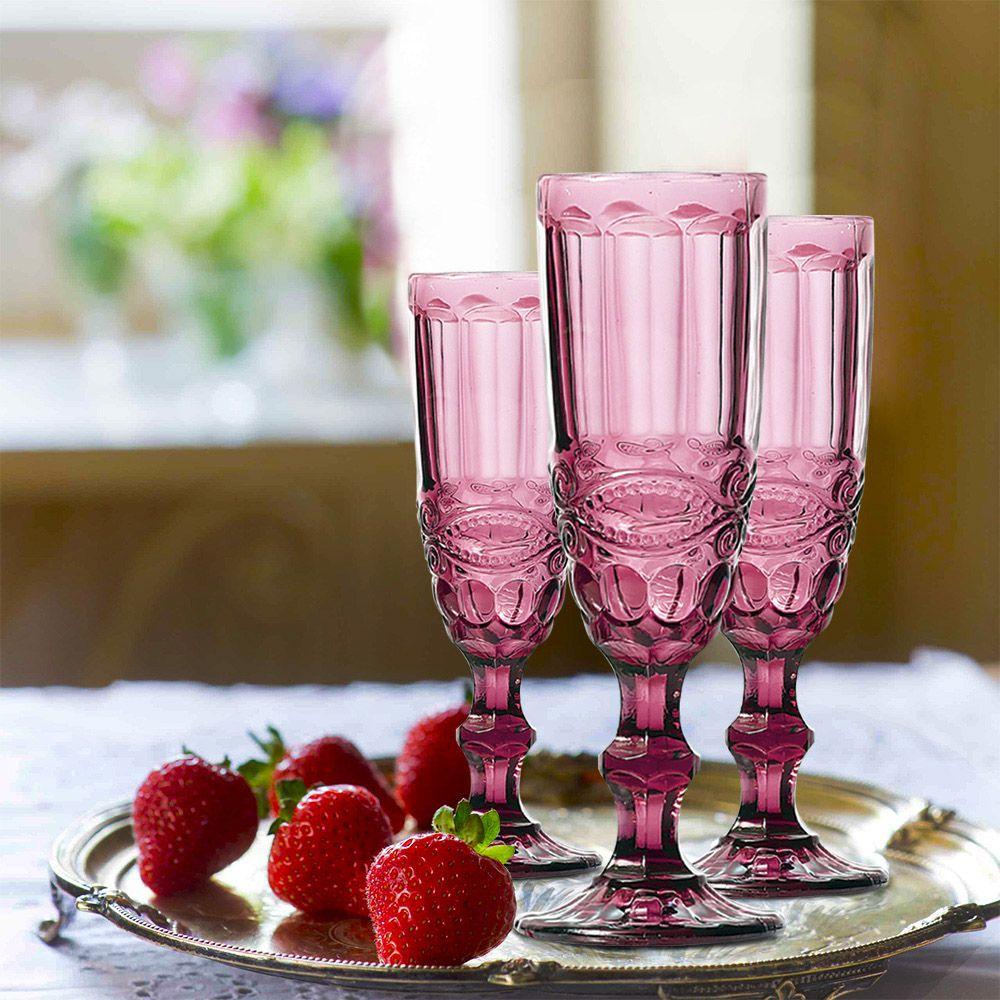 Jogo de Taças de Champagne Elegance Lilás