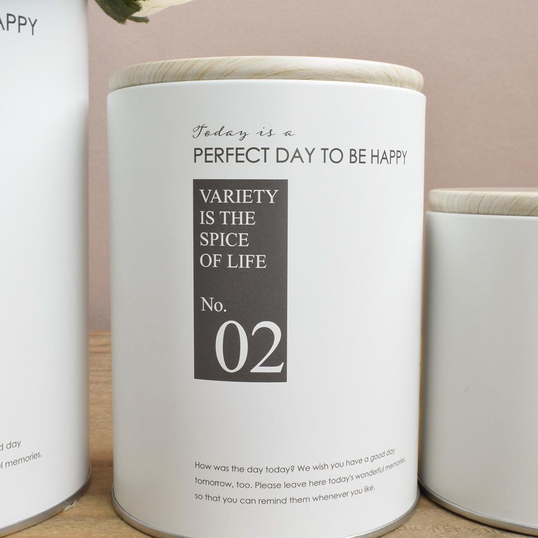 Jogo com Três Potes Decorativos Happiness