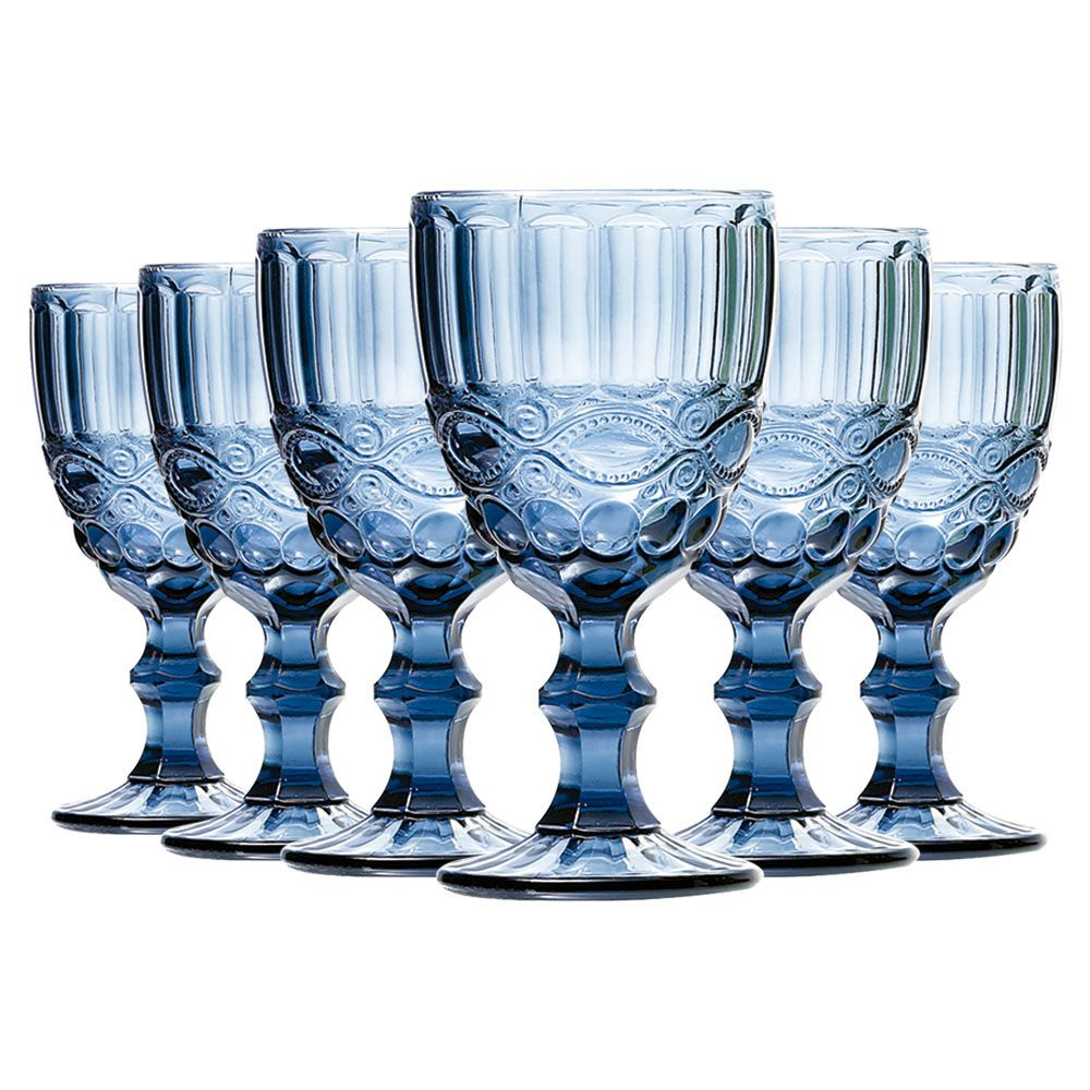 Jogo de Taças de Água Elegance Azul