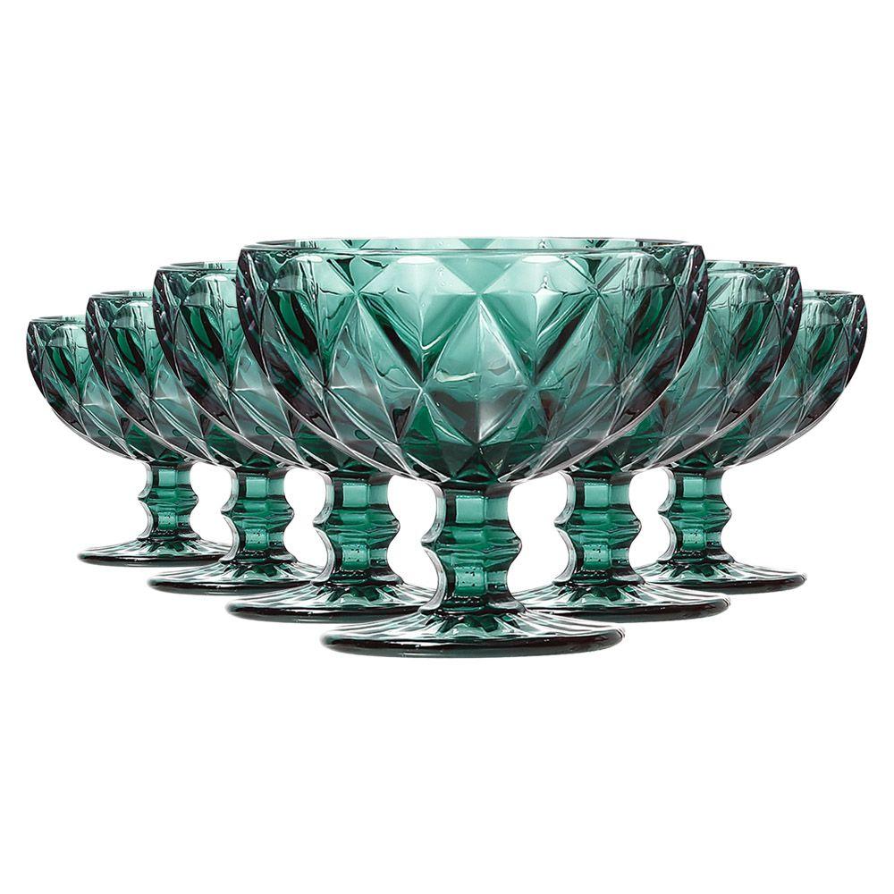 Jogo de Taças de Sobremesa Diamante Tiffany