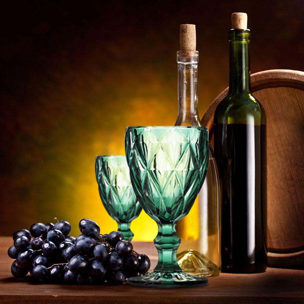 Jogo de Taças de Vinho Diamante Azul Tiffany