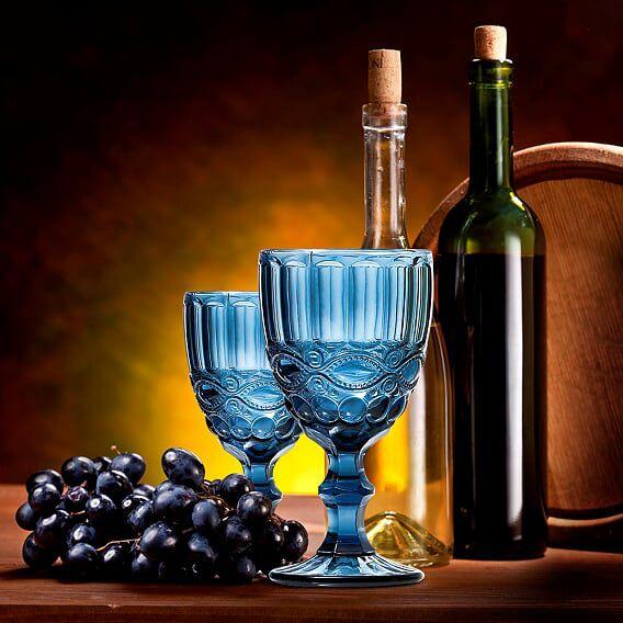 Jogo de Taças de Vinho Elegance Azul