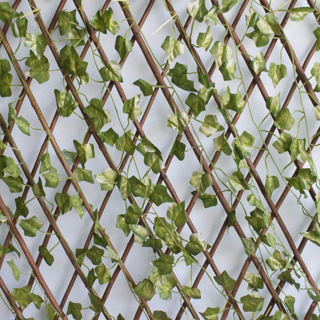 Kit Atacado com 12 Treliças de Madeira com Folhagem para Muro Verde Permanente