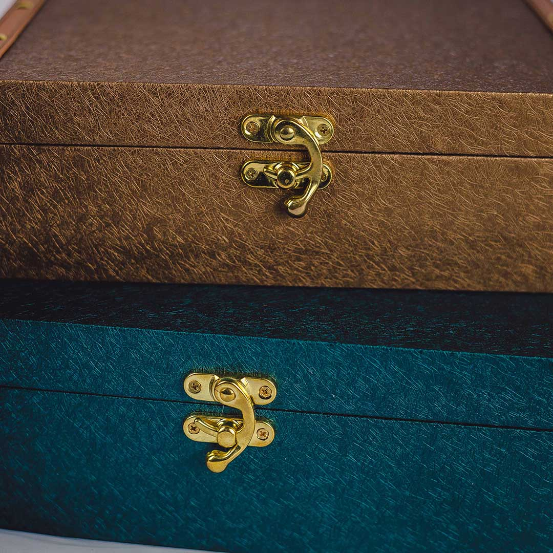 Kit com 3 Caixas de Madeira Decorativas Coloridas  | Formosinha