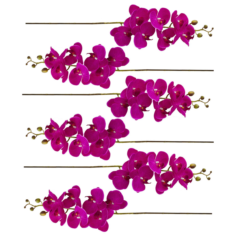 Kit com 6 Haste de Orquídea Artificial Pink | Formosinha