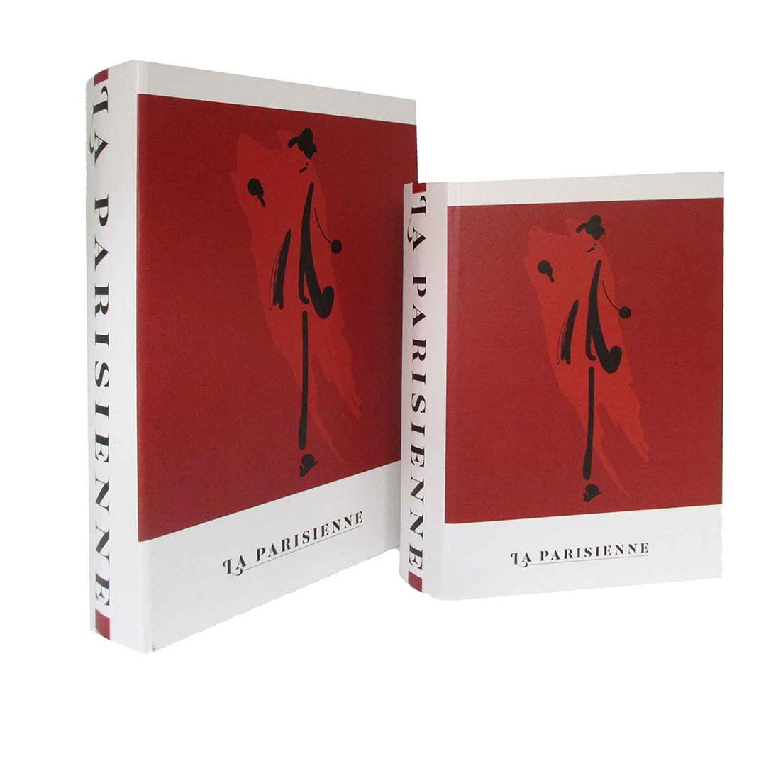 Kit de Caixas Livros de Madeira Paris