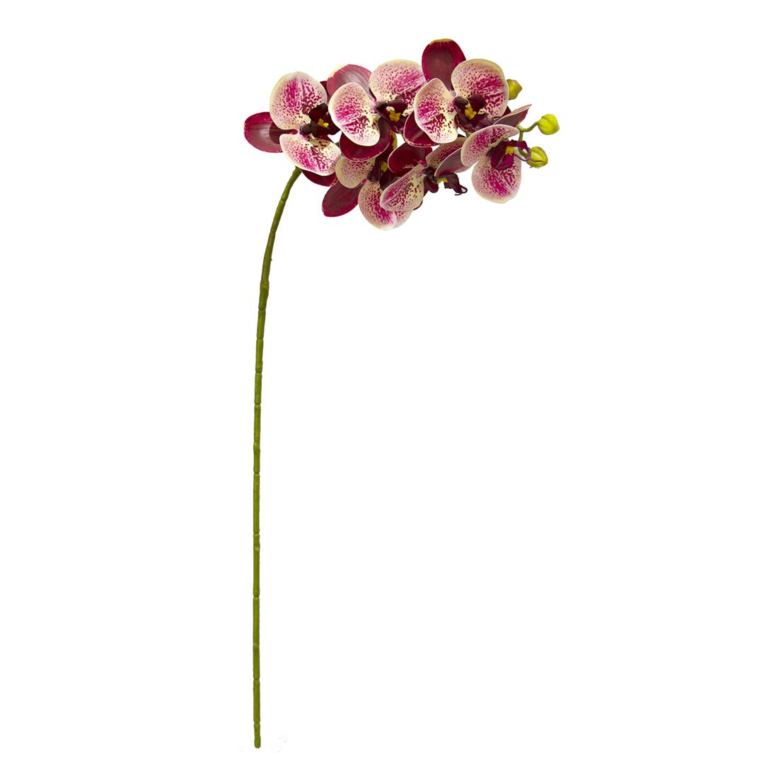 Kit em Atacado de 12 Flores Artificiais  - Orquídea de Silicone Rosa| Formosinha
