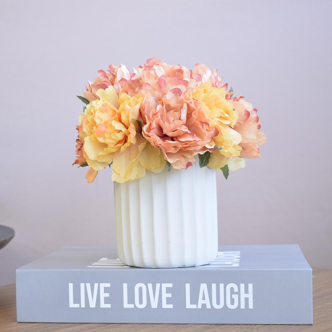 Livro Decorativo Love Live Laugh Cinza