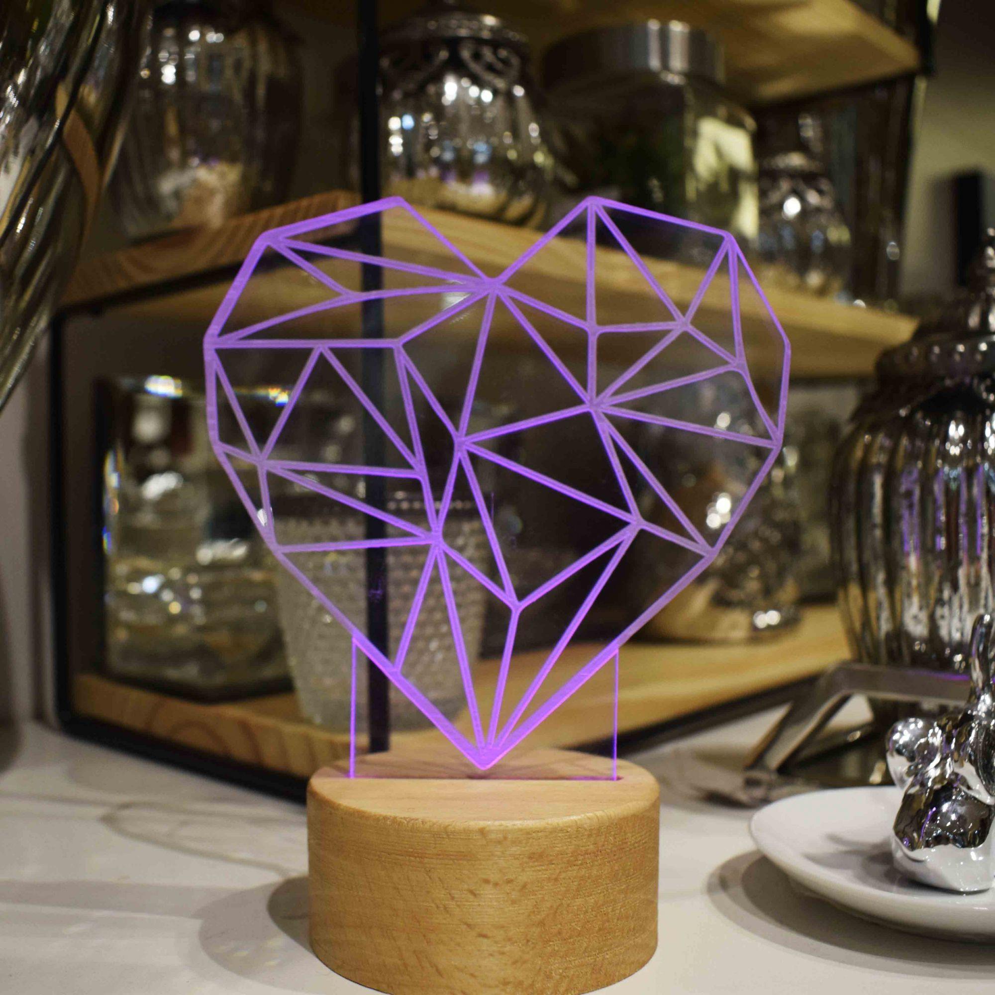 Luminária de LED Coração