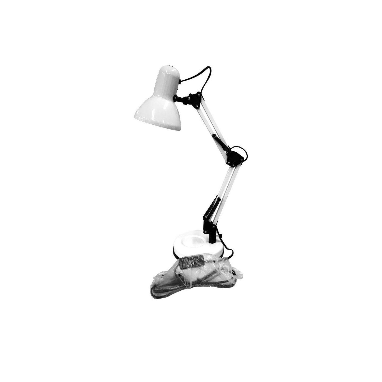 Luminaria Mesa Metal Pixel Branca 16x16x45cm E27 25w