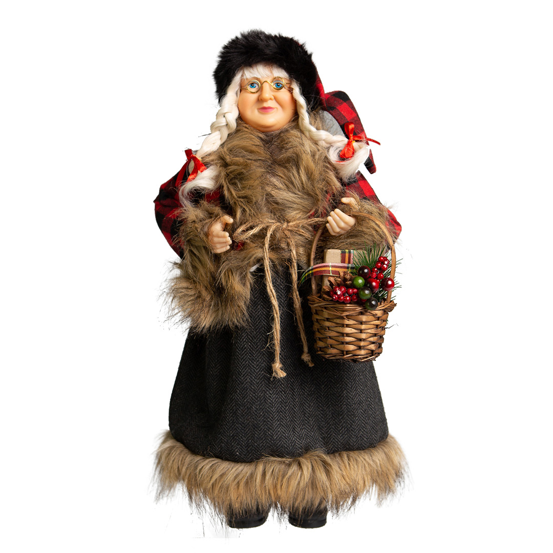 Mamãe Noel em Pé Inverno 30cm | Natal Formosinha