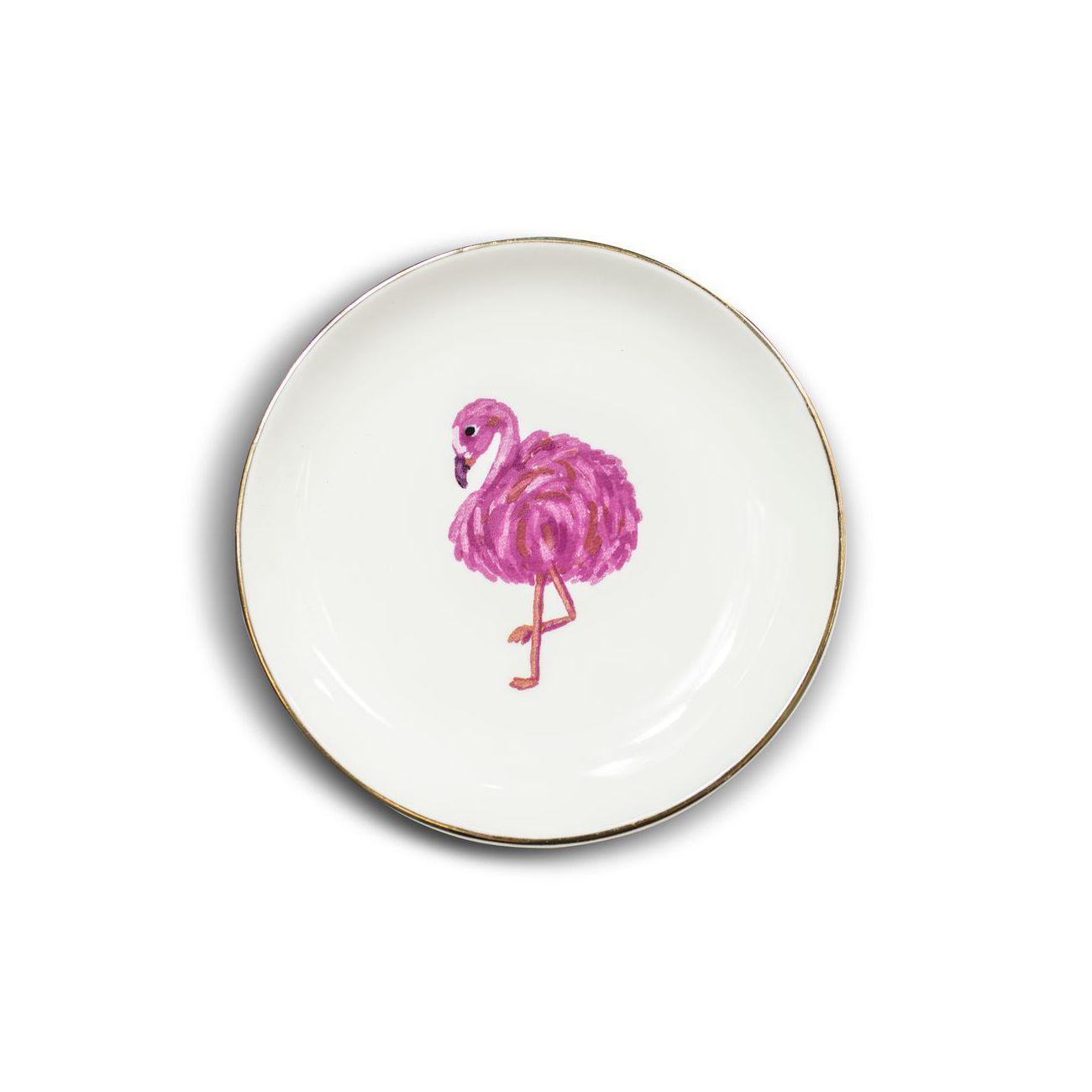 Mini Prato Decorativo Flamingo
