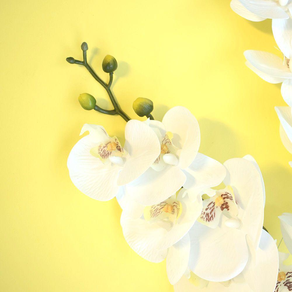 Kit 12 Orquídeas Artificial Branca de Silicone Atacado | Formosinha