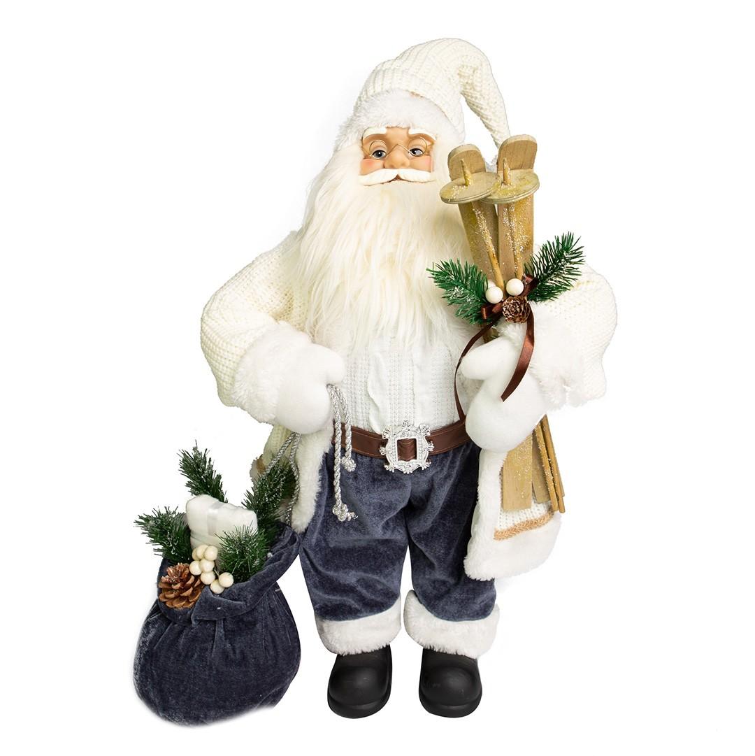 Papai Noel Esquiador Luxo com 45cm de Altura| Linha Natal Encantado Formosinha