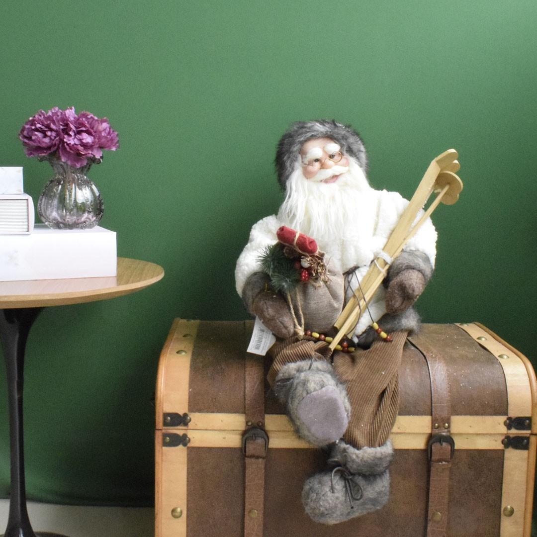 Papai Noel Laminador Sentado Branco com 60cm de Altura| Linha Natal Encantado Formosinha