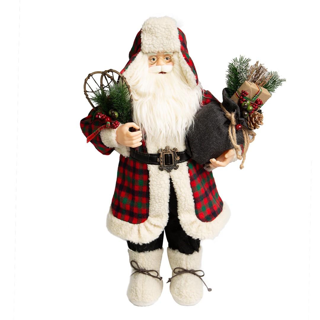 Papai Noel Lenhador com 60cm|Natal Formosinha