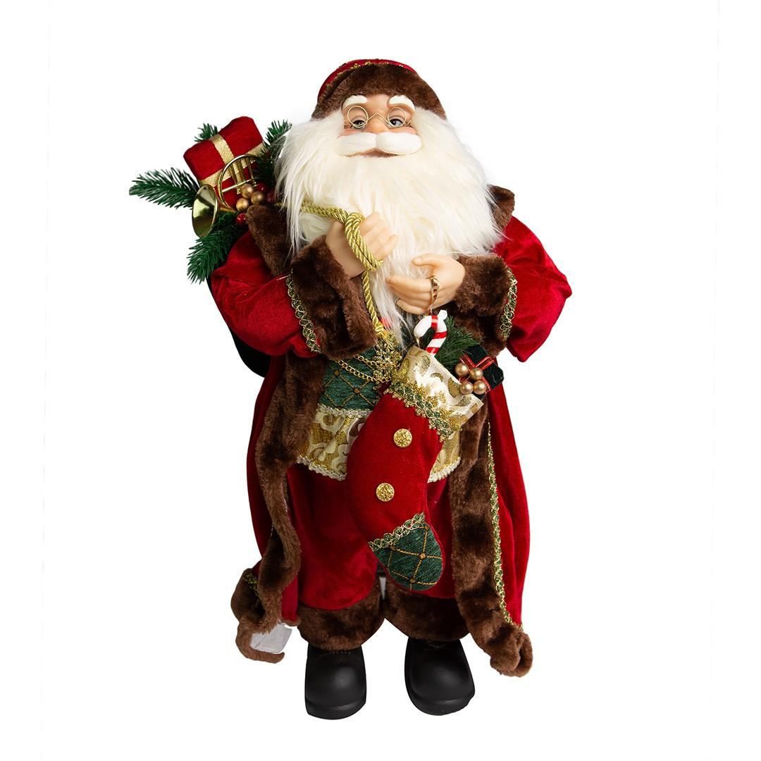 Papai Noel Magic Tradicional Luxo com 80cm de Altura| Linha Natal Encantado Formosinha