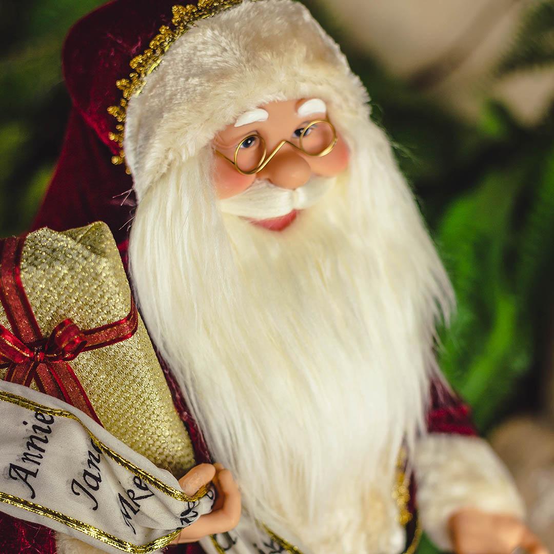 Papai Noel Natal Lista Vermelho com 45 cm   Natal Formosinha