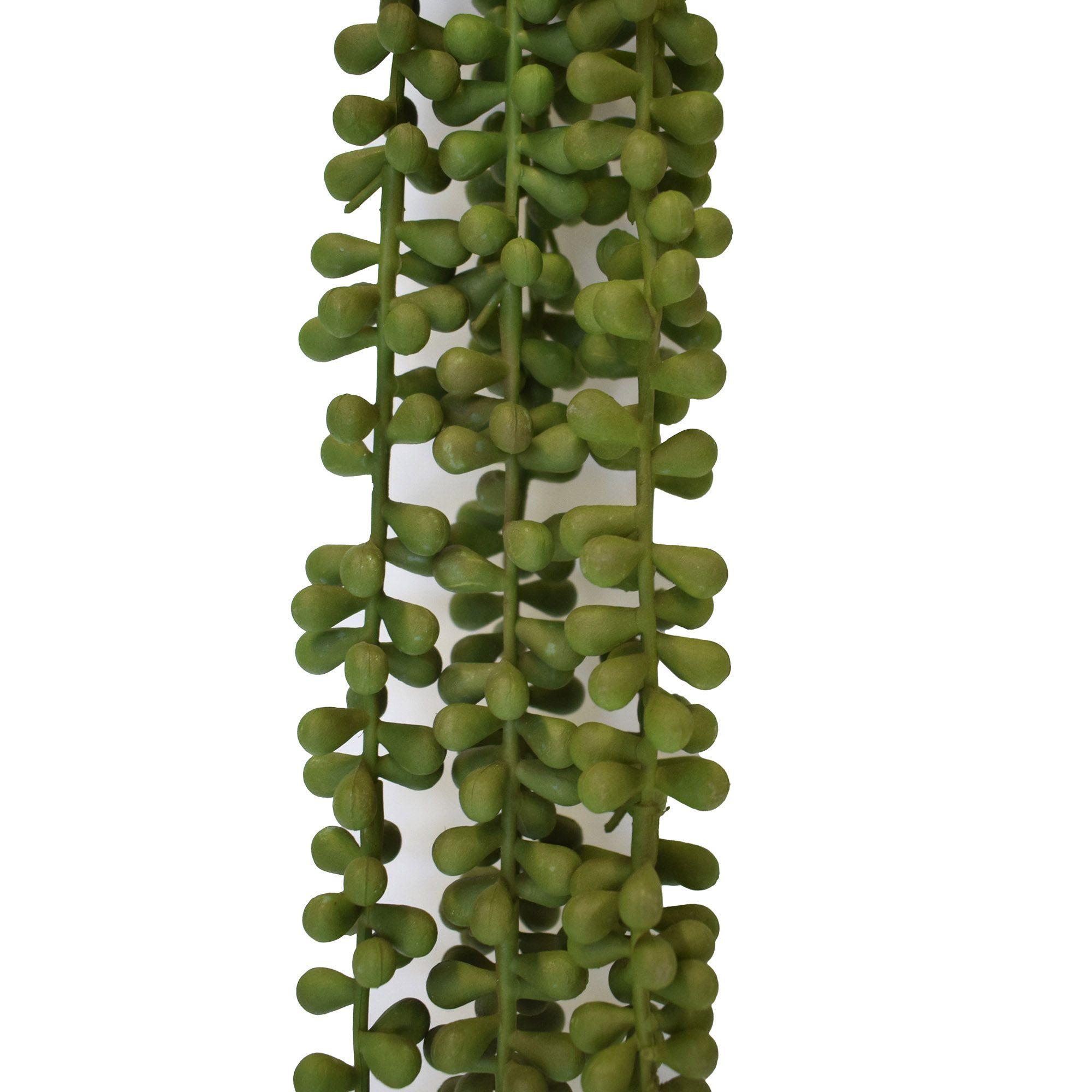 Pendente Suculenta Artificial Rosário 70cm | Linha Jardim Vertical Formosinha