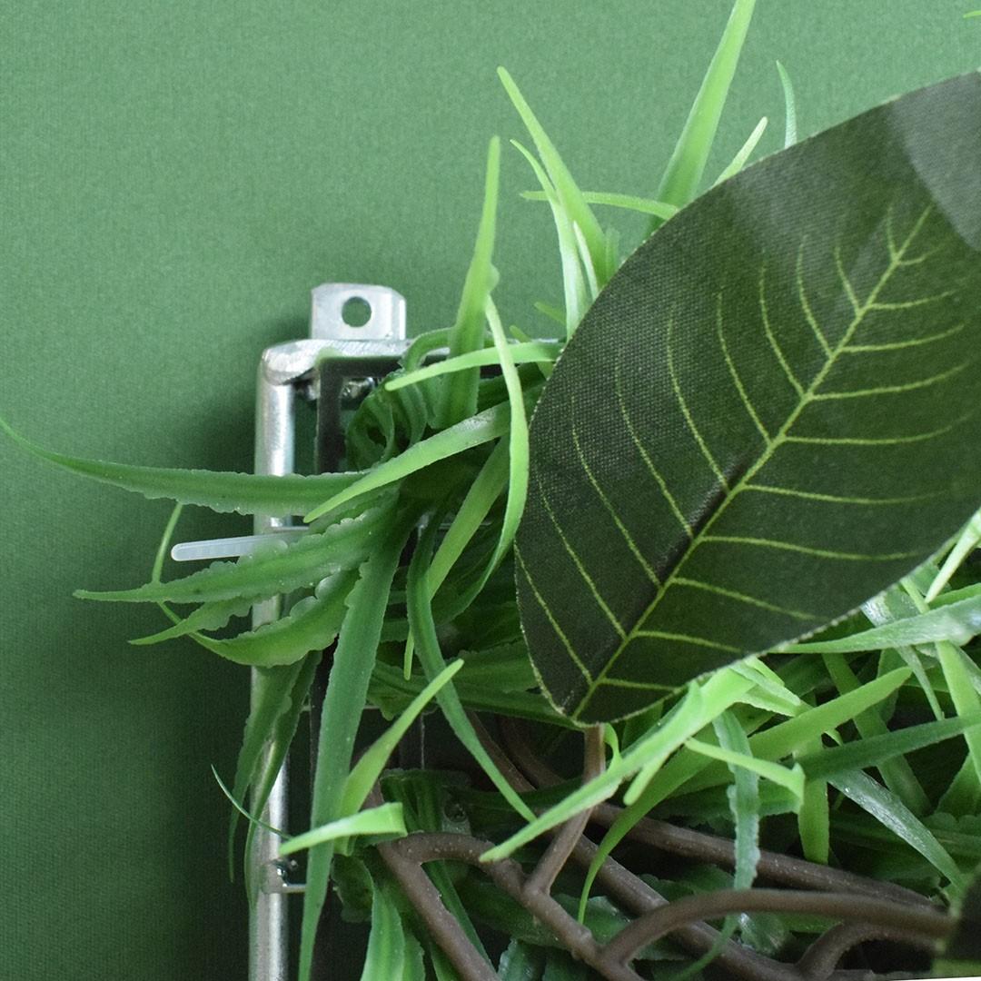 Placa de Muro Verde de Samambaia, Ficus e Grama