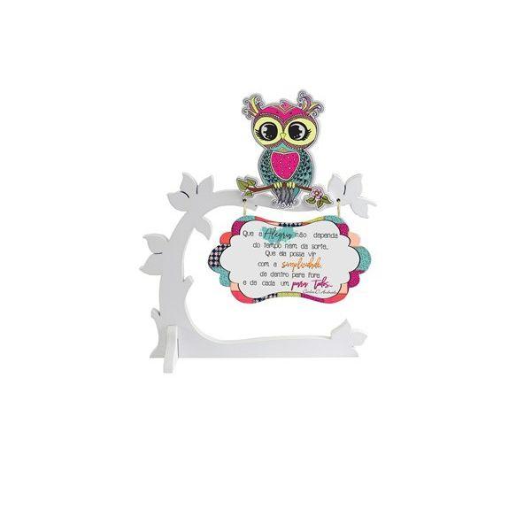 Plaquinha Decorativa de Mesa Alegria | Linha Decoração Formosinha