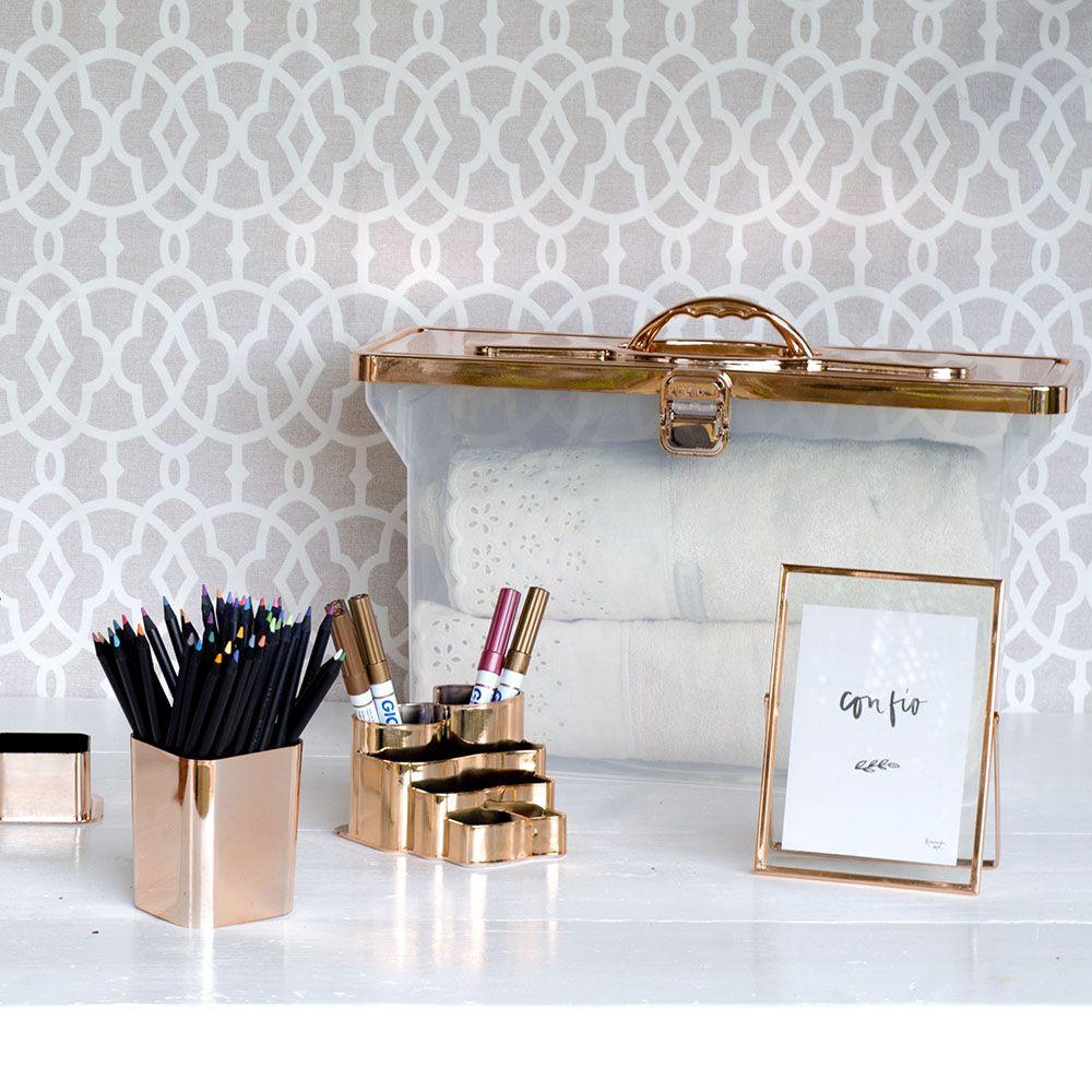 Porta Objetos Bronze | Linha Organize Formosinha