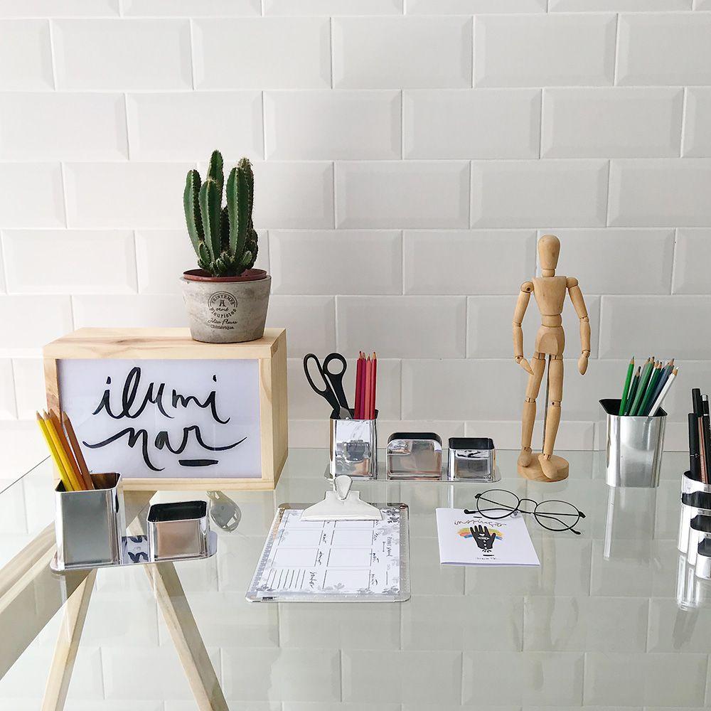 Porta Objetos Prata | Linha Organize Formosinha