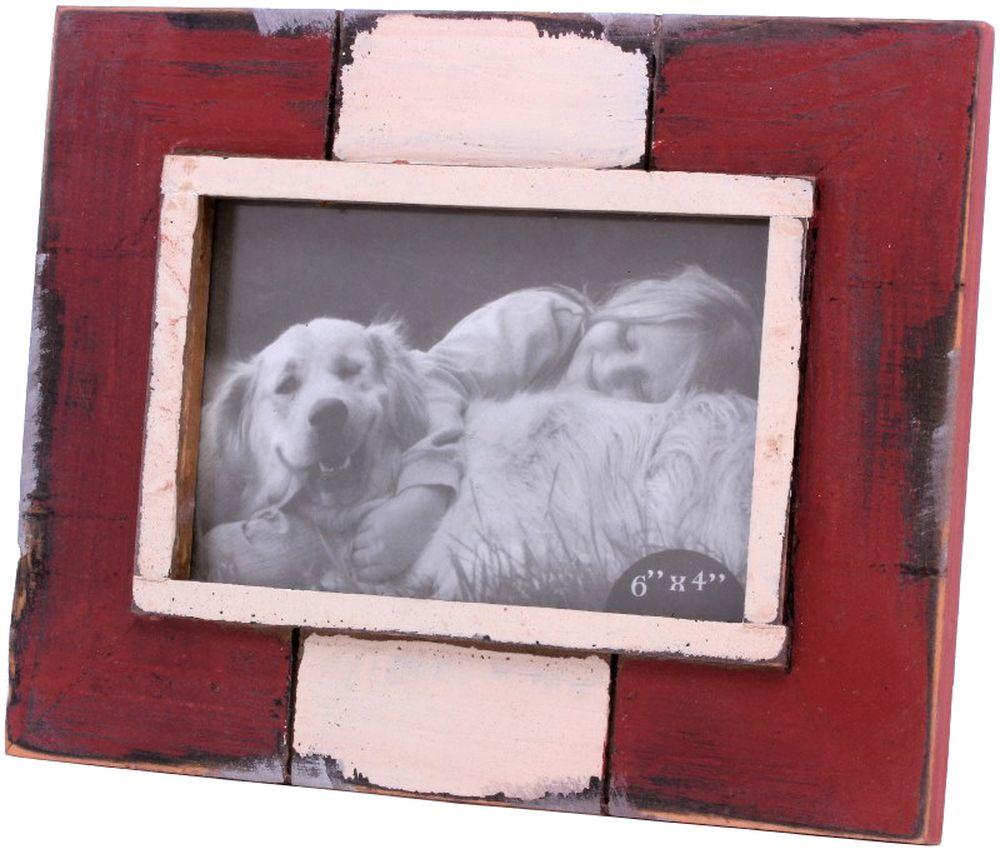 Porta Retrato de Madeira Vermelho