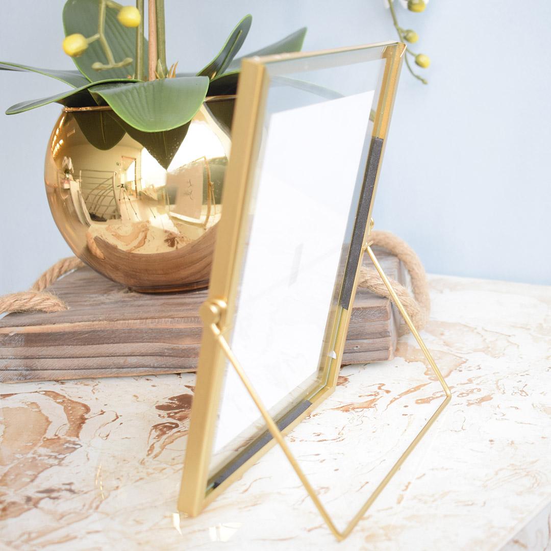 Porta Retrato Dourado 10x15cm