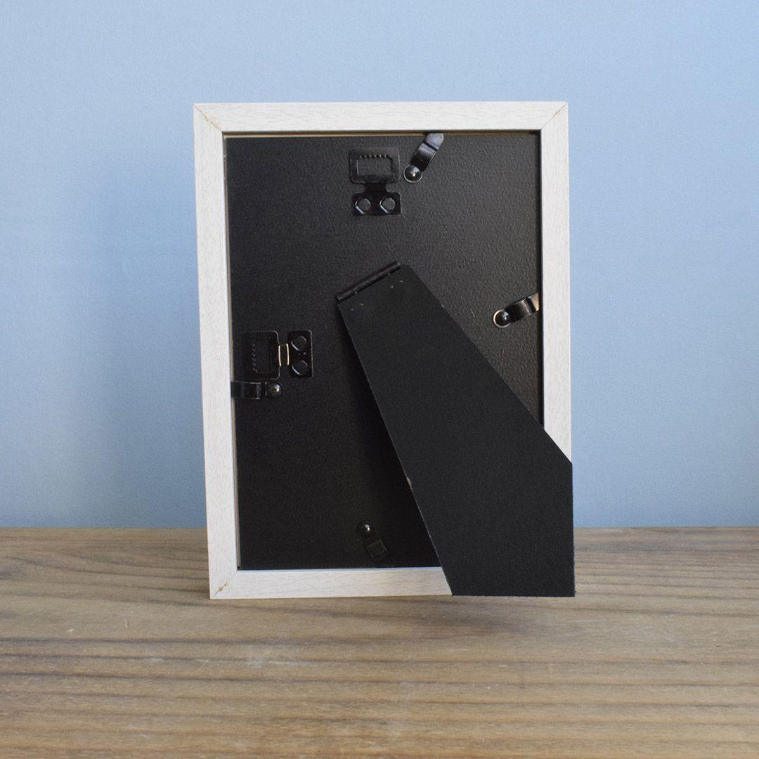 Porta Retrato Preto com Paspatur 15x20cm