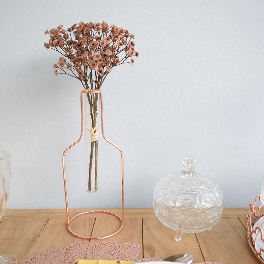 Potiche Decorativo Redondo Flores com Pé
