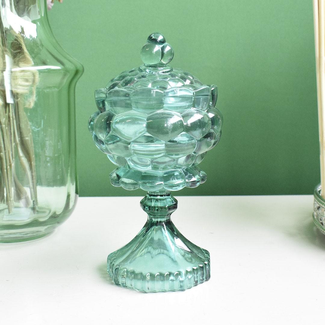 Potiche Perolas de Vidro Esmeralda | Linha Decor Formosinha