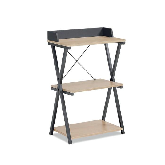 Estante com Estrutura de Metal Design Preta| Linha Home Office