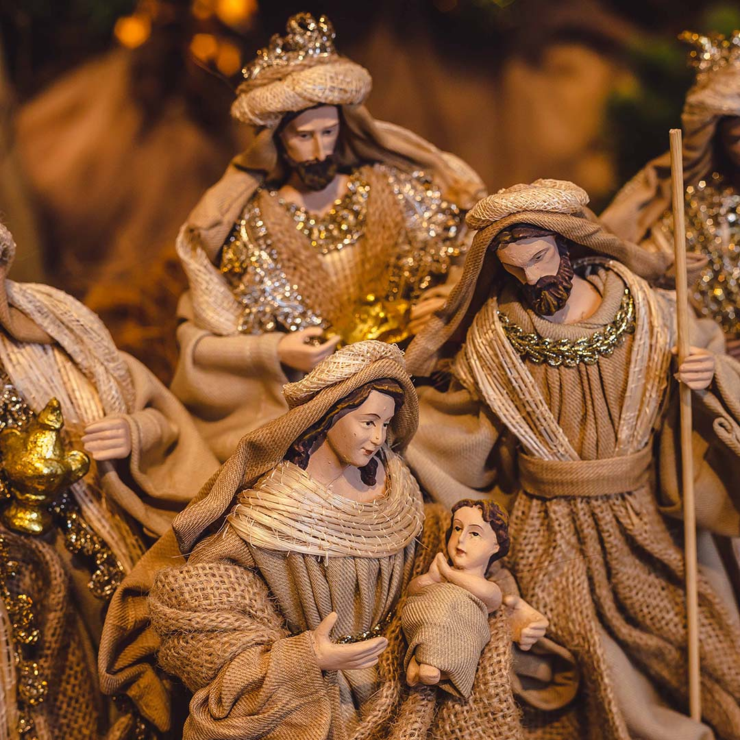 Presépio Sagrada Família 24cm   Linha Sacra Formosinha