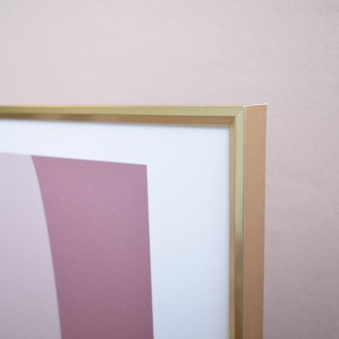 Quadro Abstrato Moldura Dourada 30x24cm