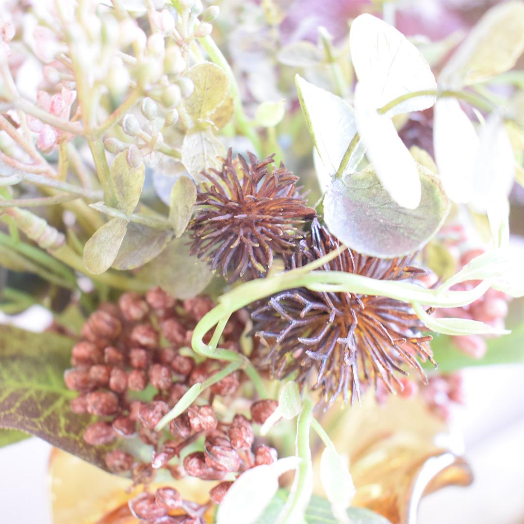 Buquê de Flores Silvestres e Eucalipto Flor Artificial de Luxo