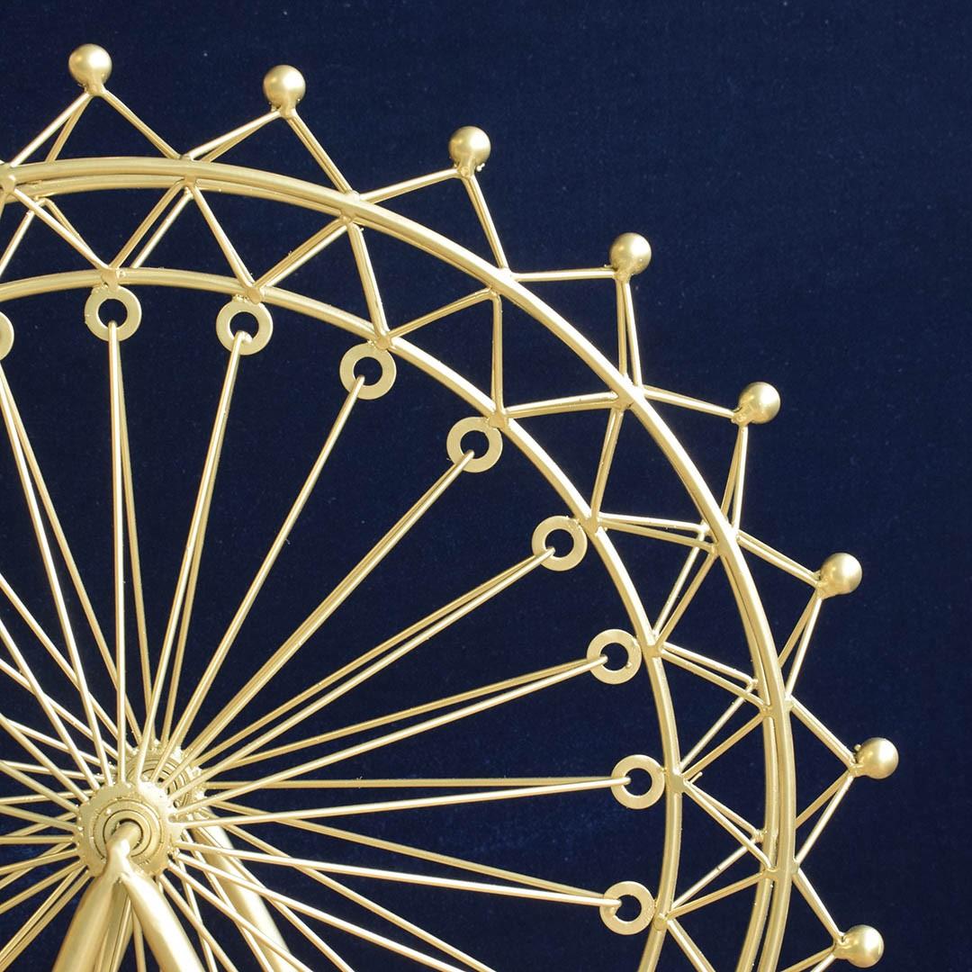 Roda Gigante Decorativa 49cm Dourado | Linha Decoração Formosinha