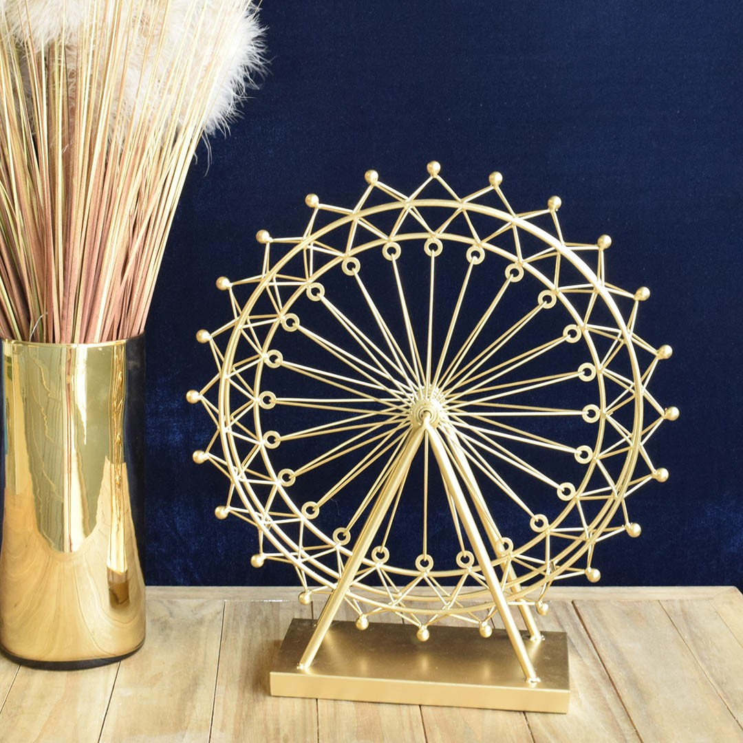 Roda Gigante Decorativa 49 cm Dourado | Formosinha