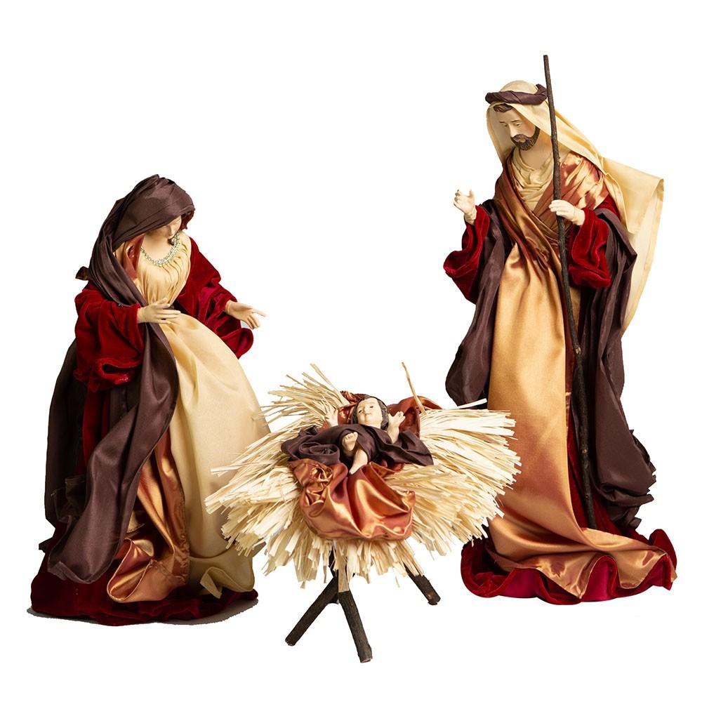 Sagrada Família com 3 peças 70cm | Linha Sacra Natal Formosinha