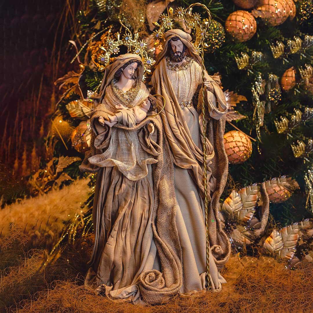 Sagrada Família Dourado 59cm | Linha Sacra Formosinha