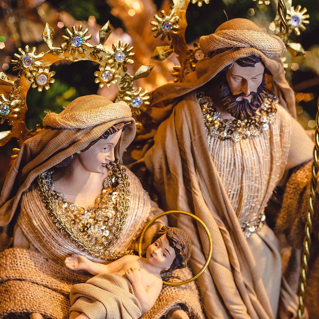 Sagrada Família Dourado 59cm   Linha Sacra Formosinha