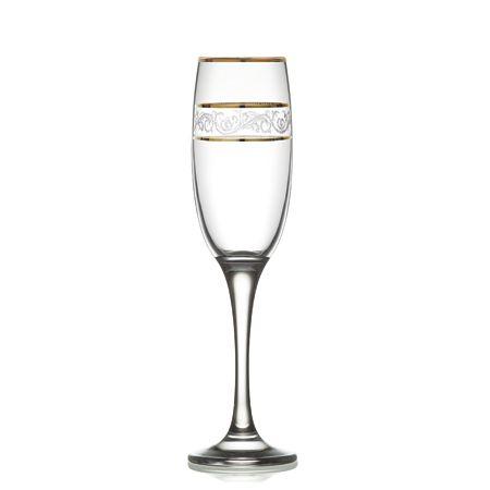 Taça de Champagne Misket Dourada
