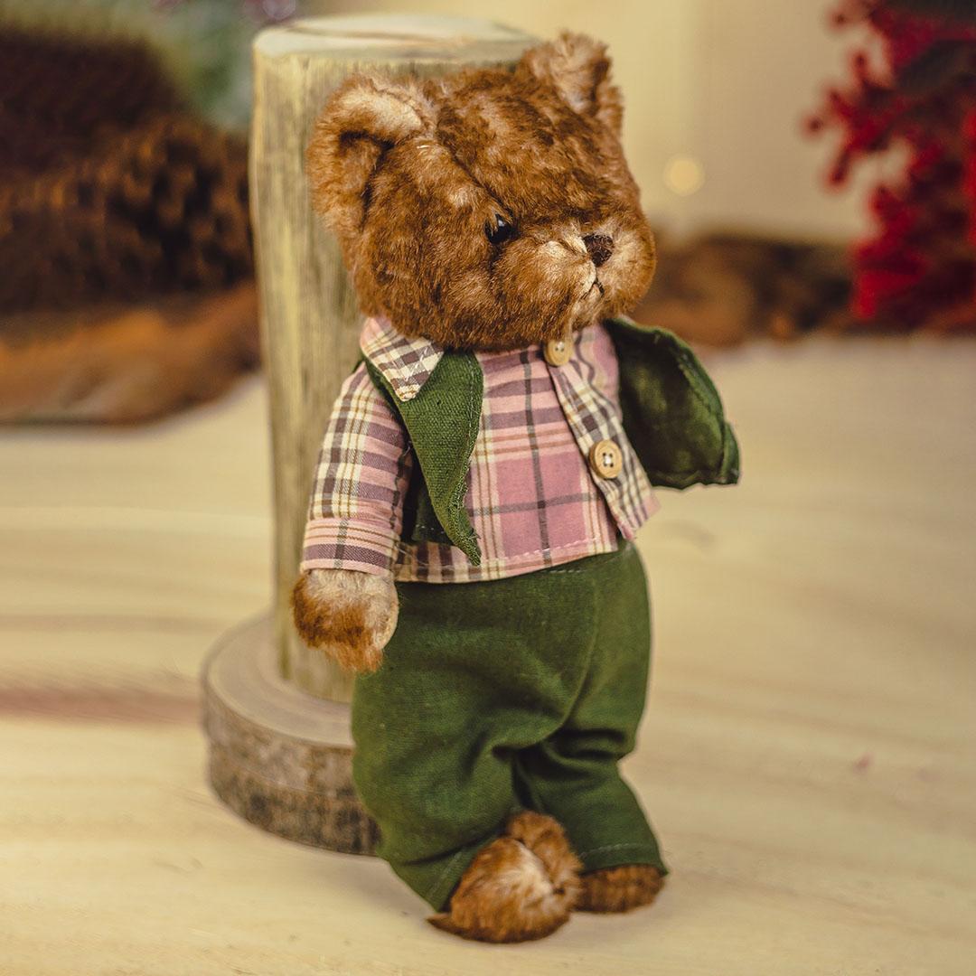 Enfeite Urso de Pelúcia de Colete 27cm | Natal Formosinha