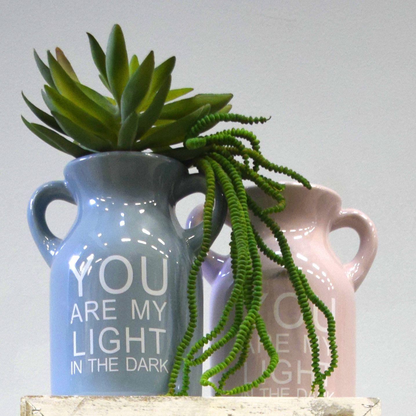 Vaso de Cerâmica com Alças Light Rosa