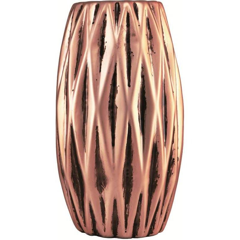 Vaso de Cerâmica Geométrico Rose Gold