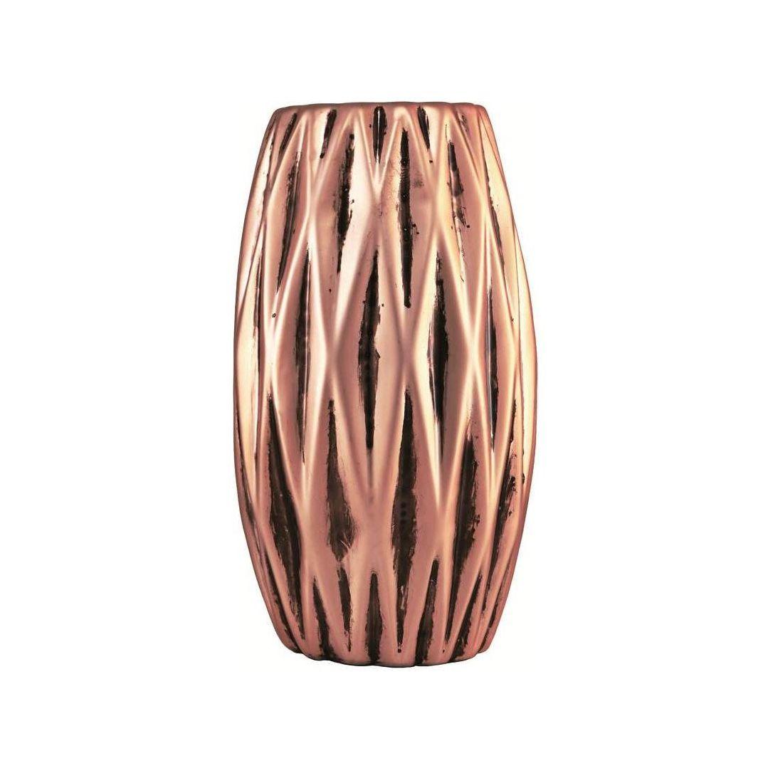Vaso de Flores Rose Gold de Cerâmica Geométrico Para Flores