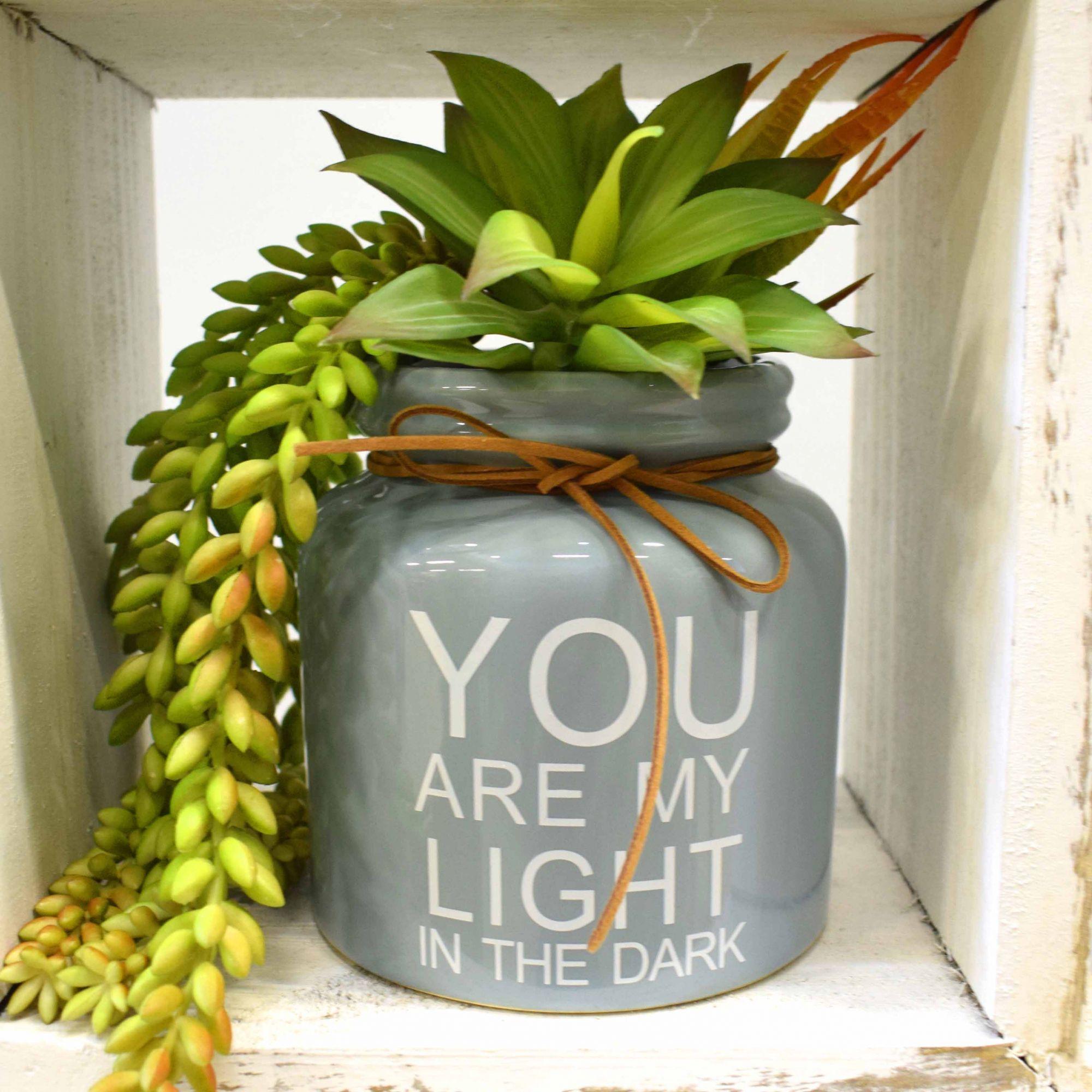 Vaso de Cerâmica Light Cinza