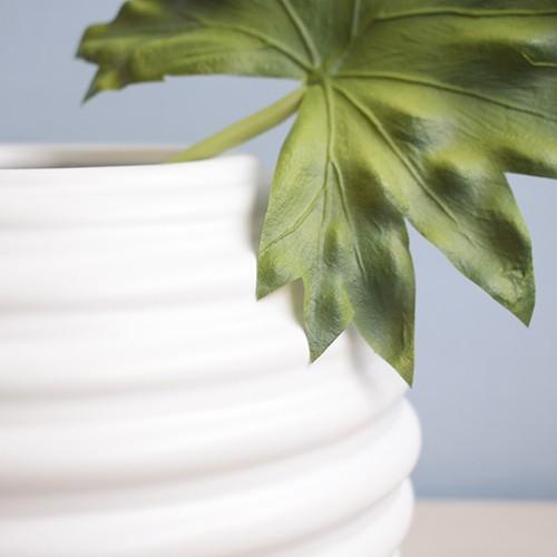 Vaso de Flores Branco Redondo 16 cm   Linha Vasos Decorativos Formosinha