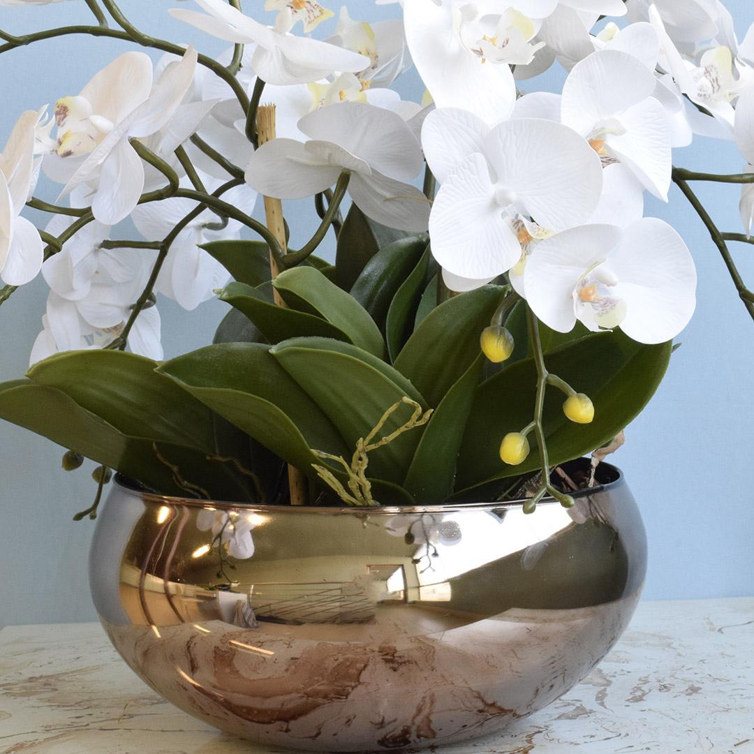 Vaso de Flores Decorativo Bronze| Linha Decorações Formosinha