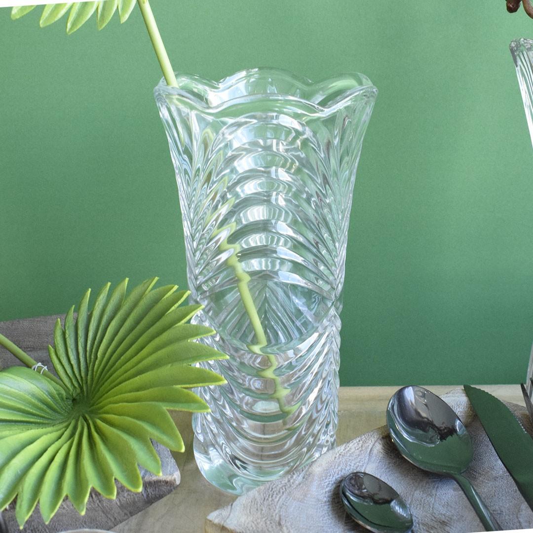 Vaso de Flores Decorativo Vidro Ondas Grande